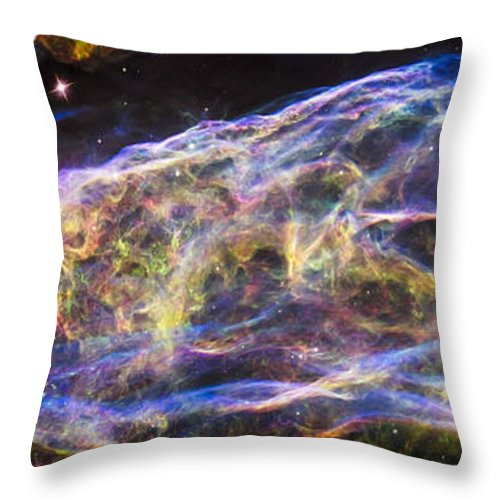 3scape Throw Pillow featuring the photograph Revisiting The Veil Nebula by Adam Romanowicz