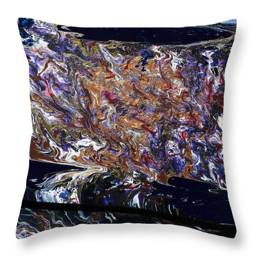 Fusionart Throw Pillow featuring the painting Revolution by Ralph White