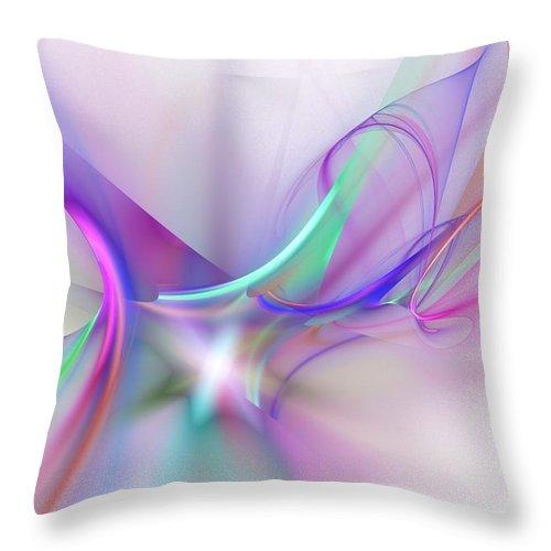 Digital Painting Throw Pillow featuring the digital art Rhapsody by David Lane