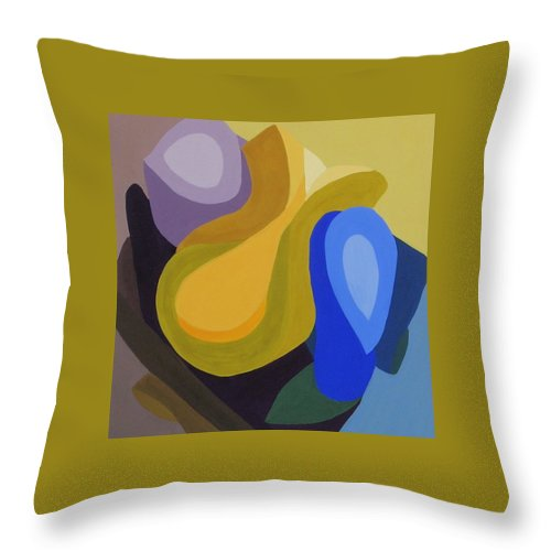 Abstract Throw Pillow featuring the painting Rhapsody In Color by Cori Solomon