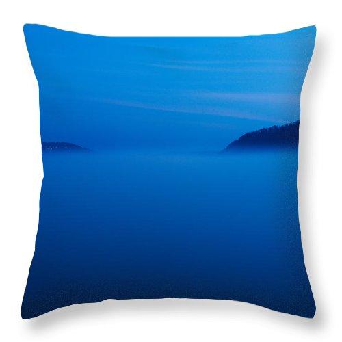 Rhine Throw Pillow featuring the photograph Rhein Im Nebel by Andre Distel