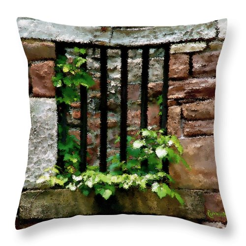 American History Throw Pillow featuring the digital art Rhus Radicans Triumphant by RC DeWinter