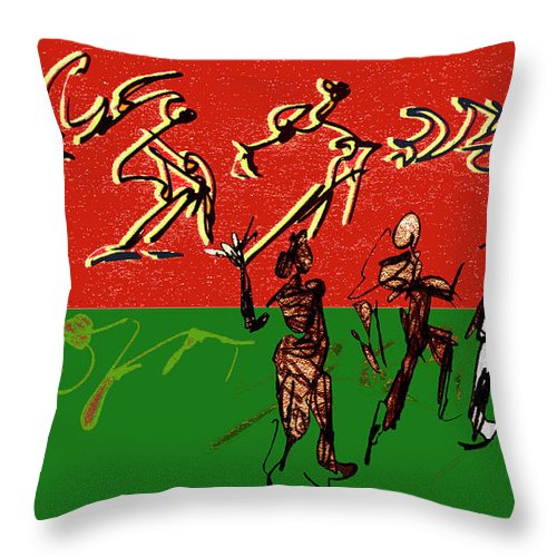 Dance Throw Pillow featuring the digital art Rhythm And Soul by Anthe Capitan-Valais