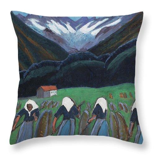 Marianne Werefkin 1860 - 1938 Rhythms (rhythms) Throw Pillow featuring the painting Rhythms by Marianne
