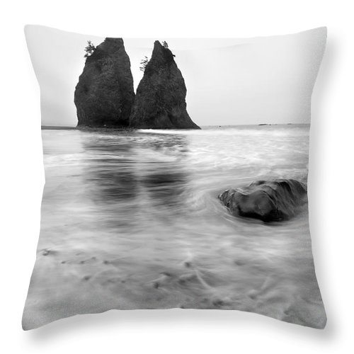 Beach Throw Pillow featuring the photograph Rialto Reflections by Mike Dawson