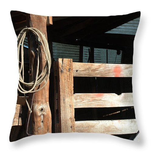 Riata Throw Pillow featuring the photograph Riata by Jerry McElroy