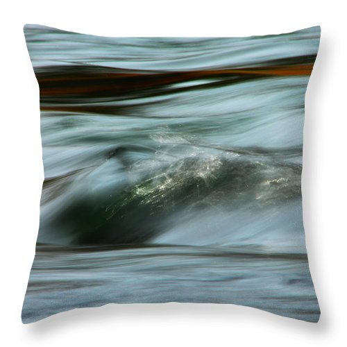 Water Throw Pillow featuring the photograph Ribbon Of Passion by Donna Blackhall