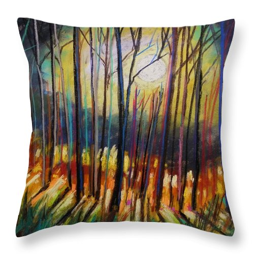 Landscape Throw Pillow featuring the painting Ribbons Of Moonlight by John Williams