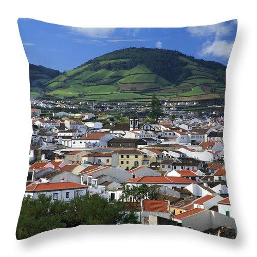 Azores Throw Pillow featuring the photograph Ribeira Grande by Gaspar Avila