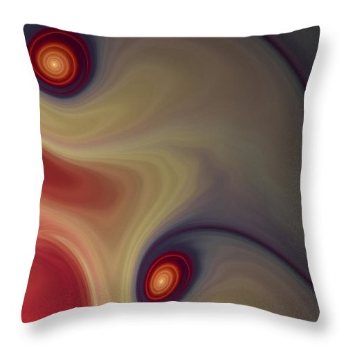 Apophysis Throw Pillow featuring the digital art Rich In Color by Amorina Ashton