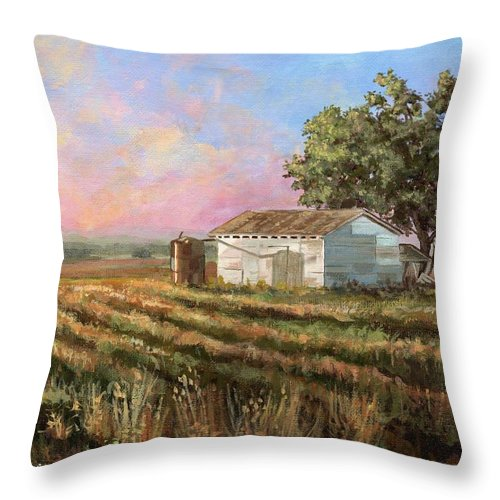 Texas Throw Pillow featuring the painting Rich Morning by Mona Davis