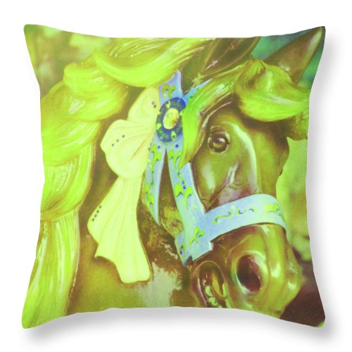 Horse Throw Pillow featuring the photograph Ride Of Old Green by JAMART Photography