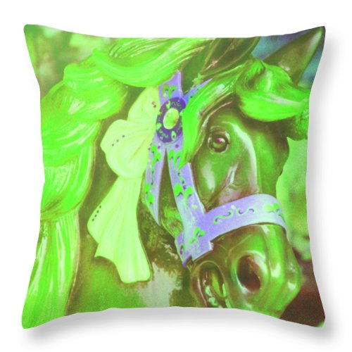 Horse Throw Pillow featuring the photograph Ride Of Old Greens by JAMART Photography