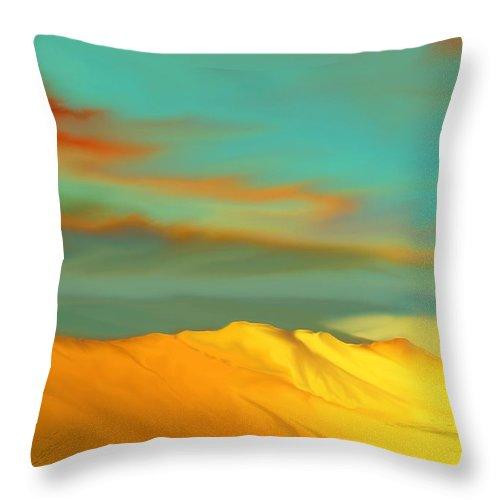 Desert Throw Pillow featuring the digital art Ridge by Kerry Beverly