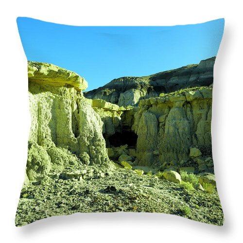 New Mexico Throw Pillow featuring the photograph Rigid New Mexico by Jeff Swan