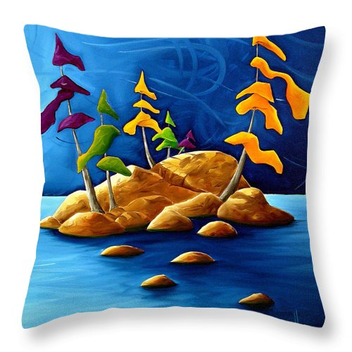 Landscape Throw Pillow featuring the painting Rift by Richard Hoedl