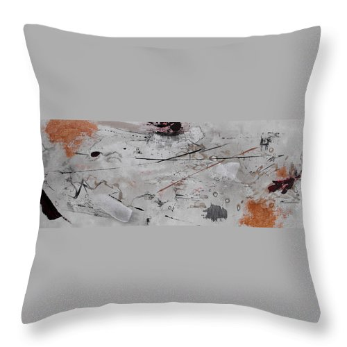 Abstract Throw Pillow featuring the painting Righteous Judgment One Long by Ruth Palmer