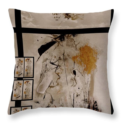 Abstract Throw Pillow featuring the painting Righteous Judgment by Ruth Palmer
