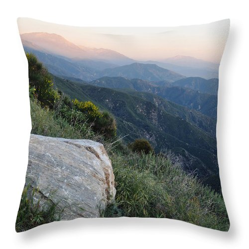 Rim Of The World Throw Pillow featuring the photograph Rim O' The World National Scenic Byway by Kyle Hanson