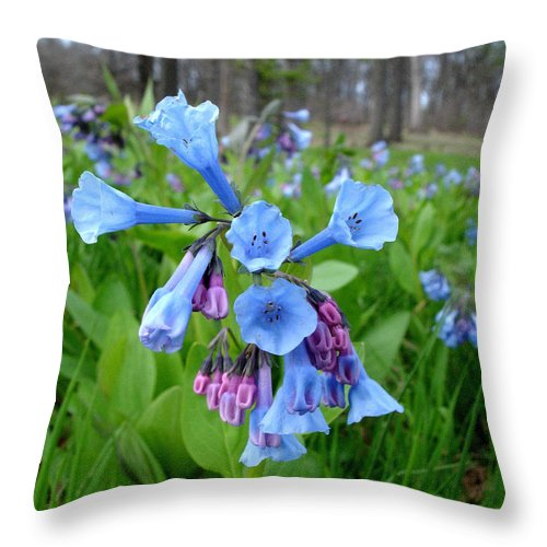 Bluebells Throw Pillow featuring the photograph Ring My Bell by Valerie Fuqua