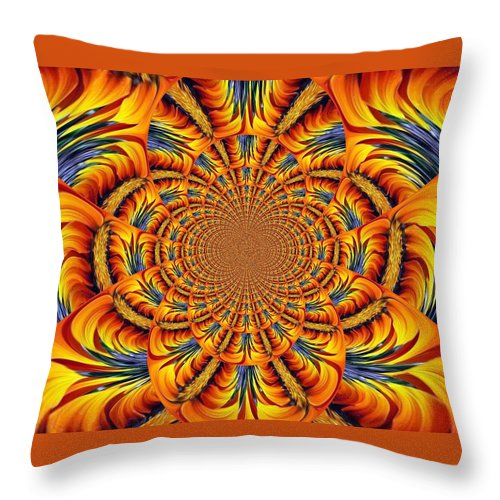 Fiery Ring Throw Pillow featuring the photograph Ring Of Fire by Barbara Griffin