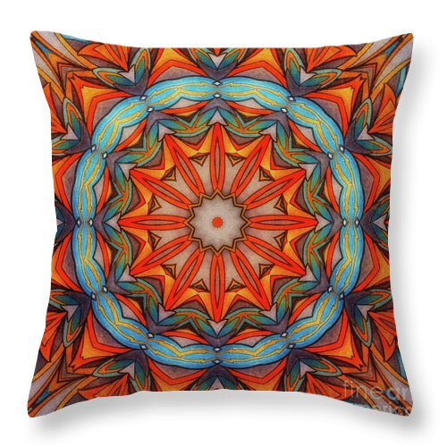 Ring Of Fire Throw Pillow featuring the drawing Ring Of Fire by Mo T