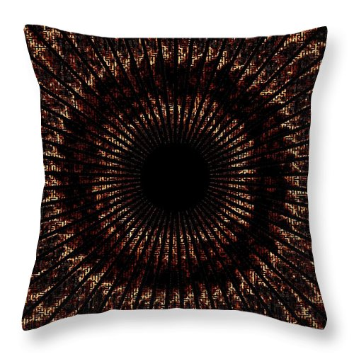 Fire Throw Pillow featuring the digital art Rings Of Fire by Charleen Treasures