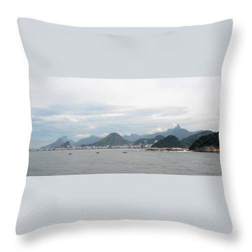 Rio De Janeiro Throw Pillow featuring the photograph Rio De Janeiro II by Brett Winn