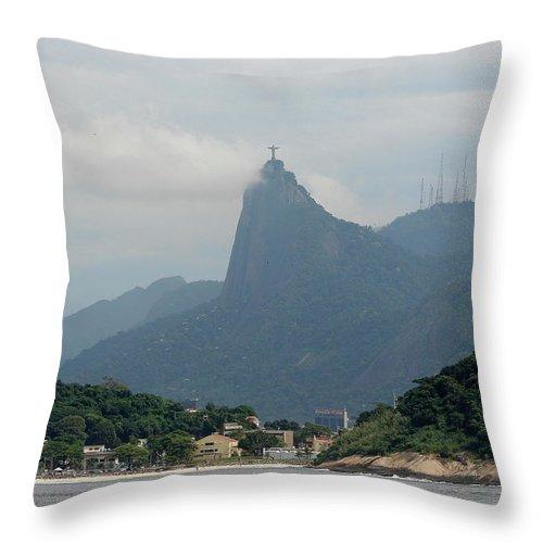 Rio De Janeiro Throw Pillow featuring the photograph Rio De Janeiro Iv by Brett Winn