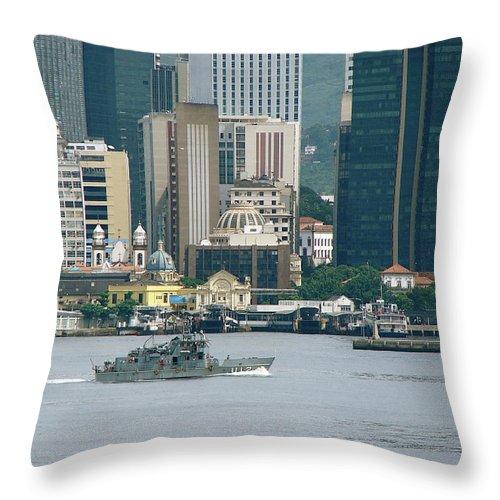 Rio De Janeiro Throw Pillow featuring the photograph Rio De Janeiro V by Brett Winn