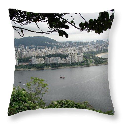 Rio De Janeiro Throw Pillow featuring the photograph Rio De Janeiro Vii by Brett Winn