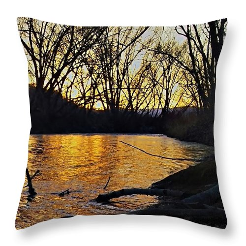Rivers Throw Pillow featuring the photograph Rio De Paz by Jess' Shots