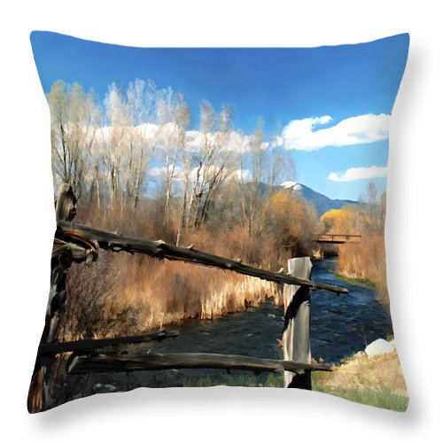 River Throw Pillow featuring the photograph Rio Pueblo by Kurt Van Wagner