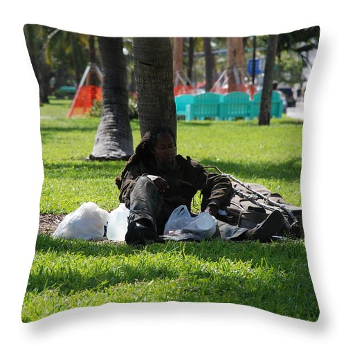 Urban Throw Pillow featuring the photograph Rip Van Winkle by Rob Hans