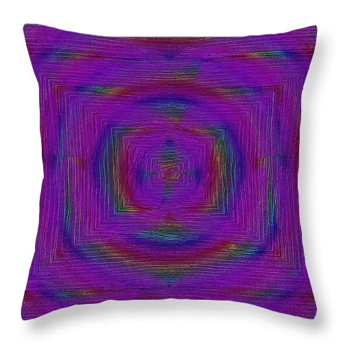 Ripples Throw Pillow featuring the digital art Ripples In Time by Tim Allen