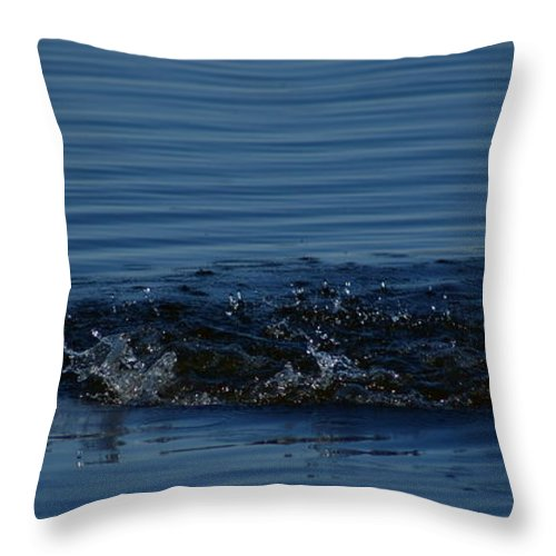 Waves Ripples In Lake Throw Pillow featuring the photograph Ripples by Joanne Smoley