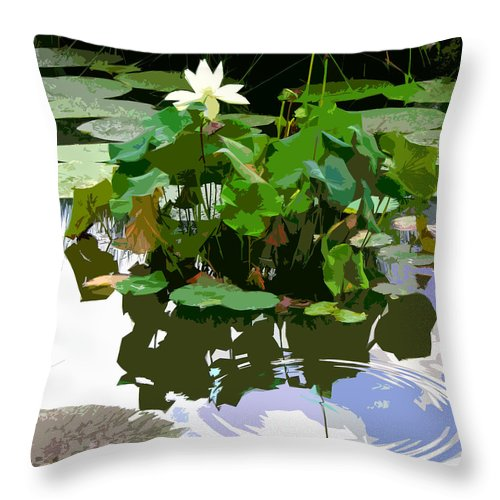 Lotus Throw Pillow featuring the photograph Ripples on the Lotus Pond by John Lautermilch