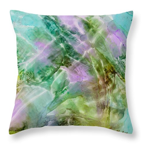 Light Throw Pillow featuring the painting Ripples On Water by Susan Kubes