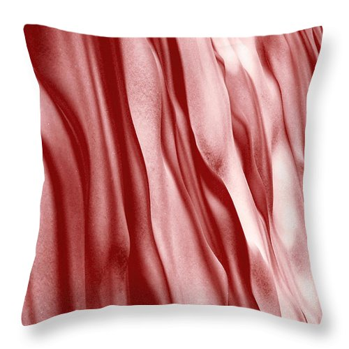 Red Throw Pillow featuring the photograph Rippling Waves by Linda McRae