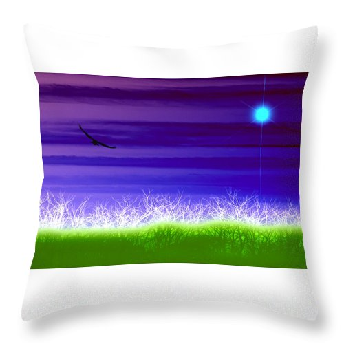 Landscape Throw Pillow featuring the photograph Rise Above by Holly Kempe