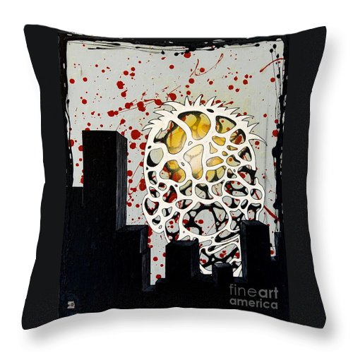 Energy Throw Pillow featuring the painting Rise by A 2 H D
