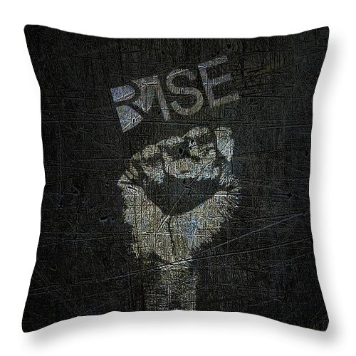 Art Throw Pillow featuring the mixed media Rise Power by Tony Rubino