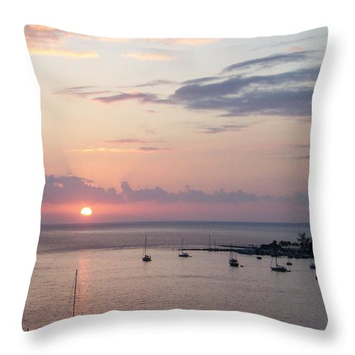 Boats Throw Pillow featuring the photograph Risenshine by Greg Hammond