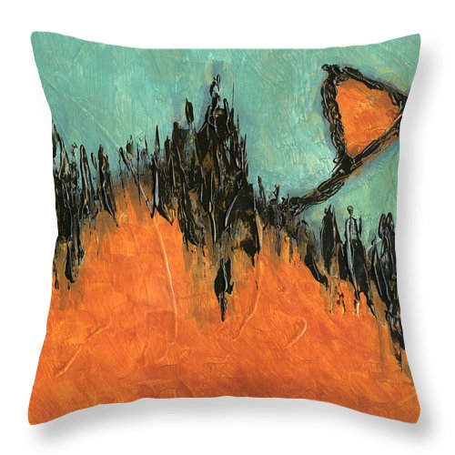 Abstract Throw Pillow featuring the painting Rising Hope Abstract Art by Karla Beatty