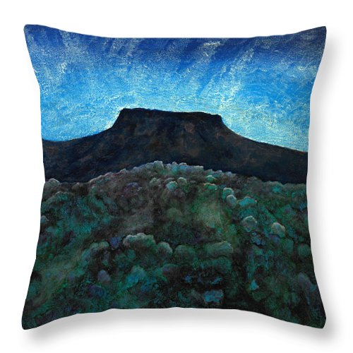 Moon Throw Pillow featuring the painting Rising Moon by Kerry Beverly