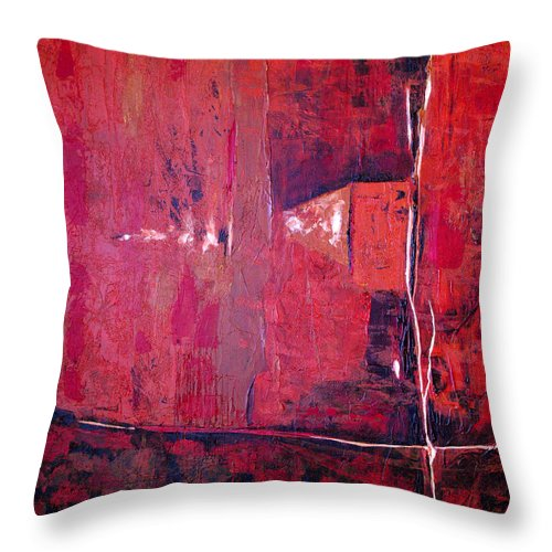 Abstract Throw Pillow featuring the painting Risky Business by Ruth Palmer