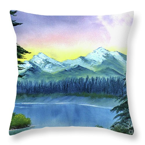 Ebsq Throw Pillow featuring the painting River Bend by Dee Flouton