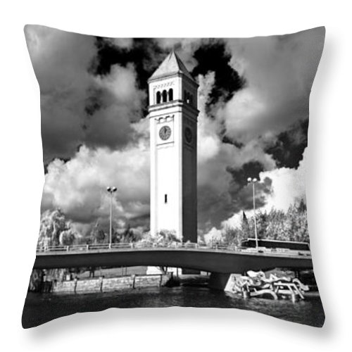 Landscape Throw Pillow featuring the photograph River Front Park Spokane by Lee Santa