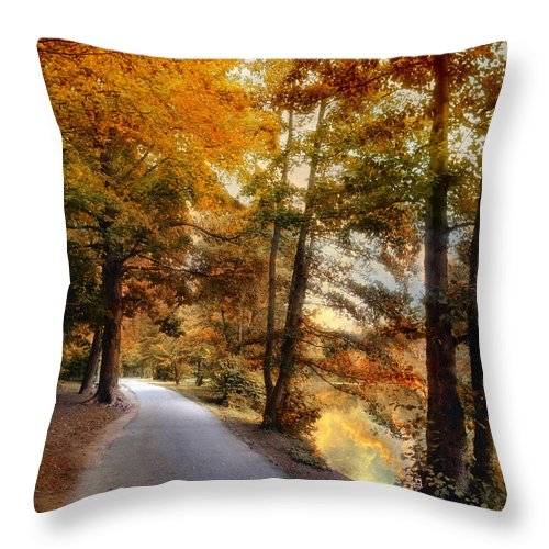 Nature Throw Pillow featuring the photograph River Lights by Jessica Jenney