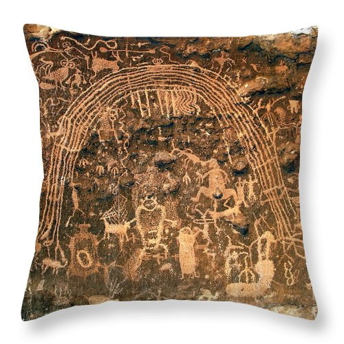 Petroglyphs Throw Pillow featuring the photograph River Of Dreams by David Lee Thompson